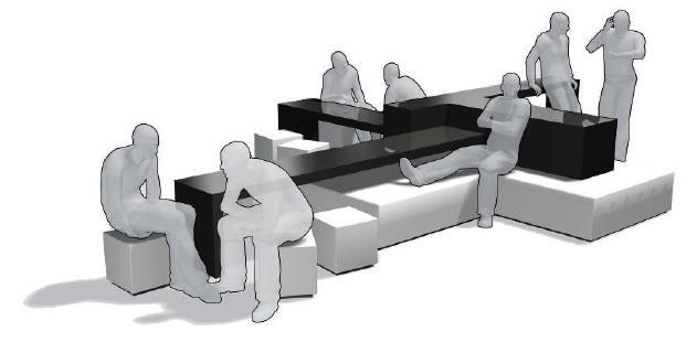 Lounge Möbel Meta Fora fördern Kommunikation