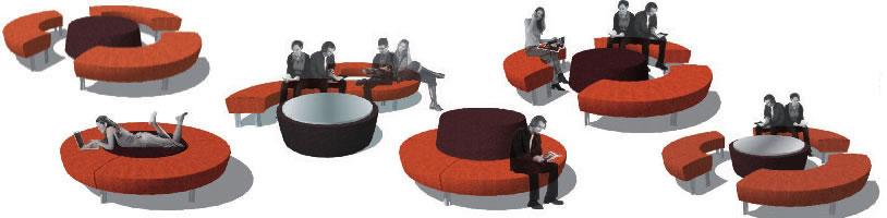 Round About - schicke Lounge Wartezimmer Möbel