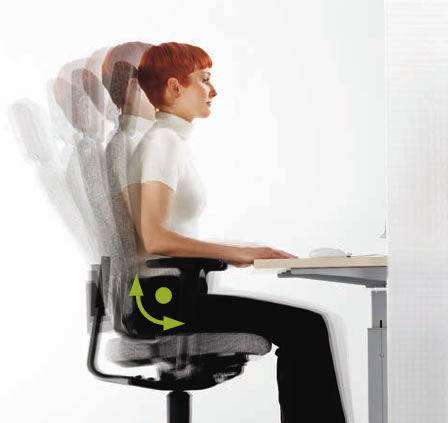 EasySit® Bürostuhl in Bewegung