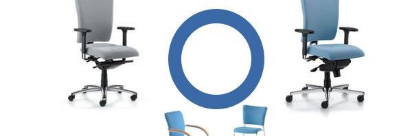 Neu Alero Bürostuhlfamilie mit durchgehenden Design.