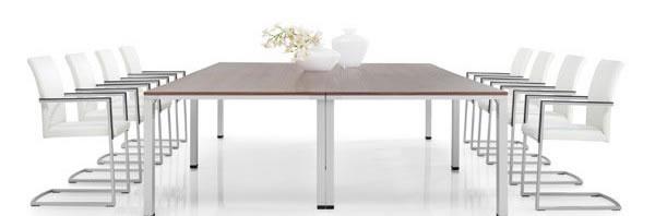 telos® Konferenztisch perfekt zum schnellen stabilen werkzeuglosen Umbau Ihre Konferenzen.