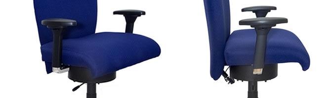 Neu XXL Bürostuhl Heavy mit Bewegungsgarantie mit frei wählbarer Sitzbreite !