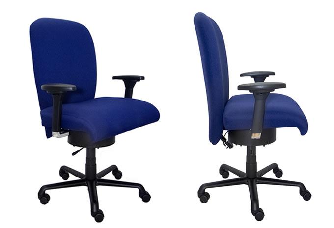 XXL Bürostuhl Heavy mit 360° Bewegungsgarantie steht für aktives Sitzen mit Rücken und Bandscheibenentlastung, regt den Stoffwechsel an , stärkt die Muskulatur , Prävention für die Gelenke durch Bewegung und fördert die Durchblutung und alles während der Büroarbeit !