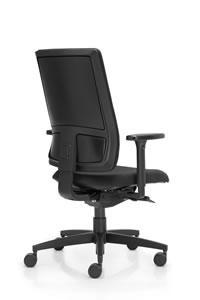 Ixo Bürostuhl mit Kunststoffabdeckung und Vorsatzpolster
