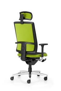 Ixo Bürostuhl mit Vollpolster Rücken