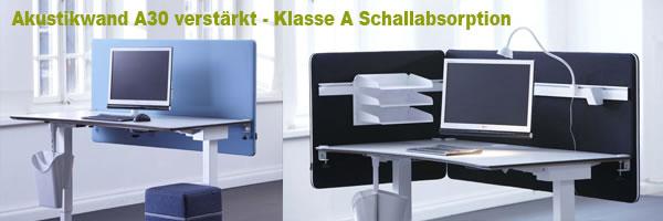 Verstärkte Akustikwand bis 30 Kg für 2 Ebene für Monitorehalterungen und Lampen Stifthalter Aktenhalter