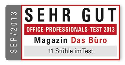 Sino Buerstuhl Test Auszeichnung - Sehr Gut - September 2013